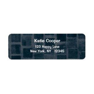 Brick Wall Texture Return Address Label