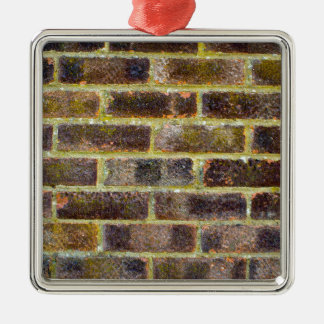 Brick Wall Texture Christmas Tree Ornament