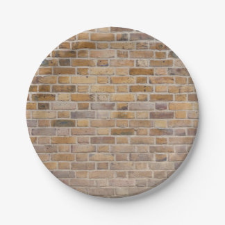 Brick wall texture paper plate