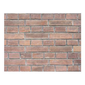 Brick wall texture postcard