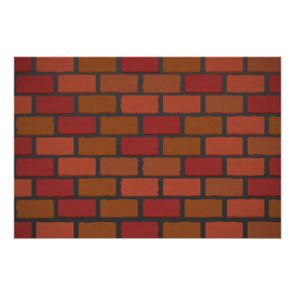 Brick wall texture poster
