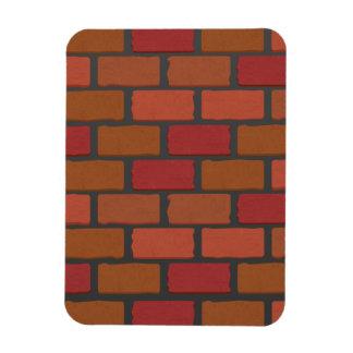 Brick wall texture rectangular photo magnet