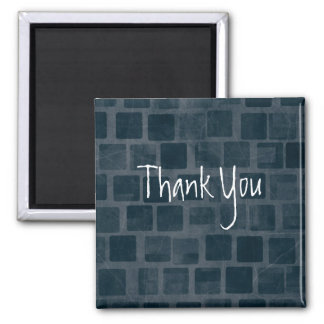 Brick Wall Texture Thank You 2 Inch Square Magnet