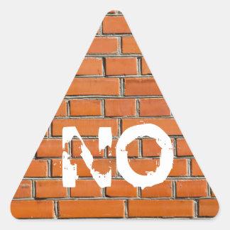Brick Wall Triangle Sticker
