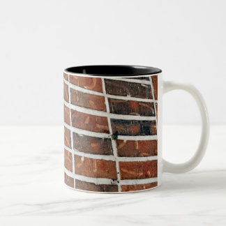 brick wall Two-Tone coffee mug