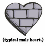brick wall typical male heart acrylic cut outs
