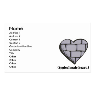 brick wall typical male heart business cards