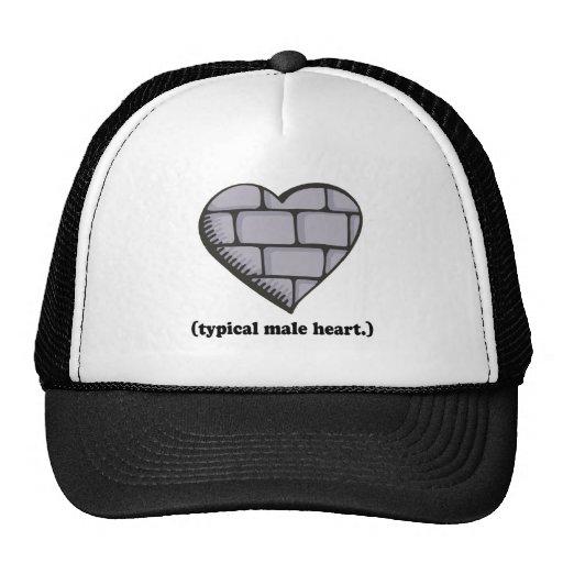 brick wall typical male heart trucker hats