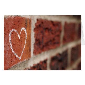 Brick Wall Valentine Card