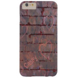 Brick Wall Valentine Graffiti Personalized Barely There iPhone 6 Plus Case