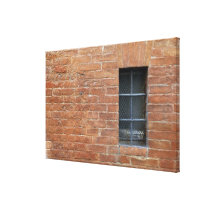 Brick wall with a typical pattern. The wall was Canvas Print