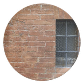 Brick wall with a typical pattern. The wall was Plate