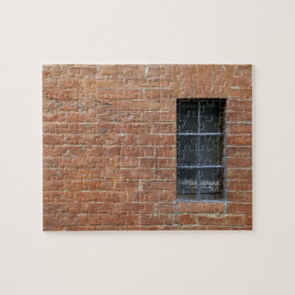 Brick wall with a typical pattern. The wall was Puzzle
