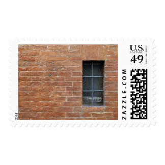 Brick wall with a typical pattern. The wall was Stamp