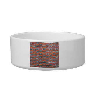 Brick Wall With Alternate Color Patterns Cat Food Bowls