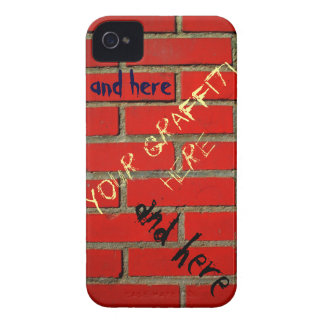 Brick Wall with Customizable Graffiti iPhone 4 Cover