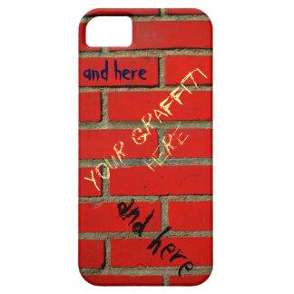 Brick Wall with Customizable Graffiti iPhone SE/5/5s Case