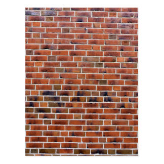 Brick wall with joints postcard