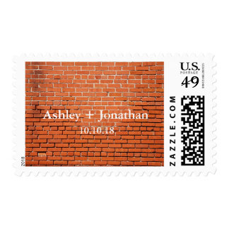 Brick Wall with Names Save the Date Stamps