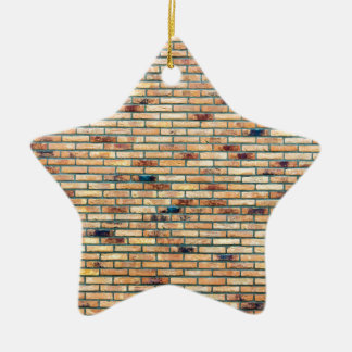Brick wall with several colors ceramic ornament