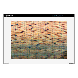 Brick wall with several colors decal for laptop