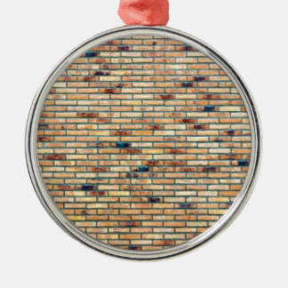 Brick wall with several colors metal ornament