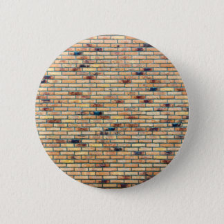 Brick wall with several colors pinback button