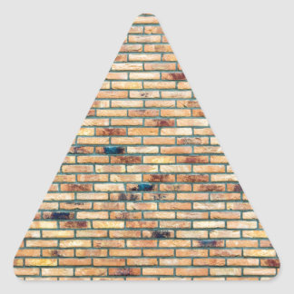 Brick wall with several colors triangle sticker
