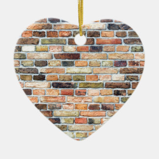 Brick wall with various colors ceramic ornament