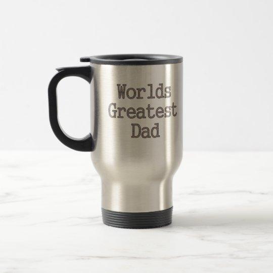 Brick Wall Worlds Greatest Dad Travel Mug