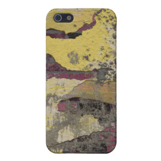Brick Wall Yellow Purple TPD Cover For iPhone 5/5S