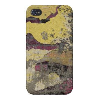 Brick Wall Yellow Purple TPD iPhone 4 Case
