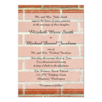 Brick Wedding Invitation