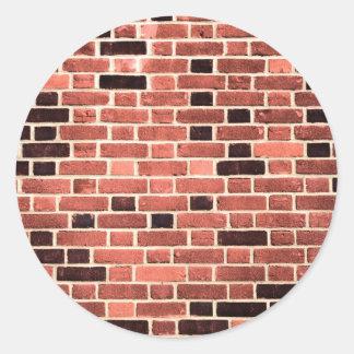 Brick Work Classic Round Sticker