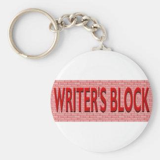 Brick Writer's Block Basic Round Button Keychain