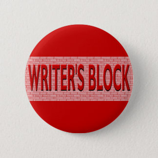Brick Writer's Block Pinback Button