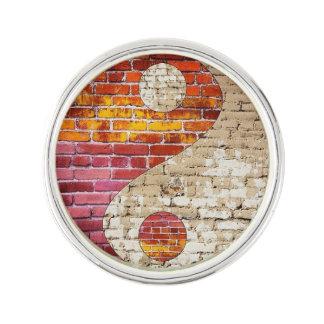 Brick Yin Yang Lapel Pin