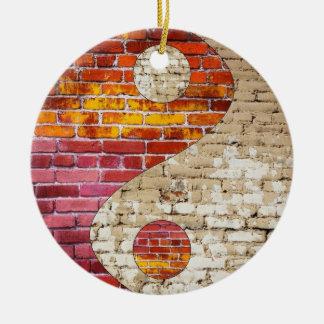 Brick Yin Yang Ornament