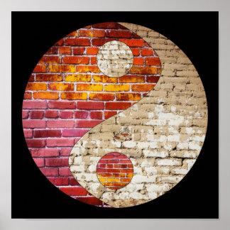 Brick Yin Yang Poster