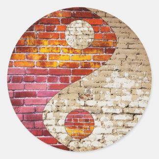 Brick Yin Yang Stickers