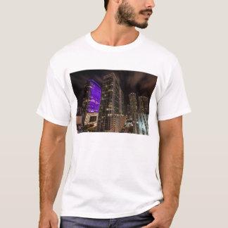 Brickell Ave Miami Florida After Dark T-Shirt
