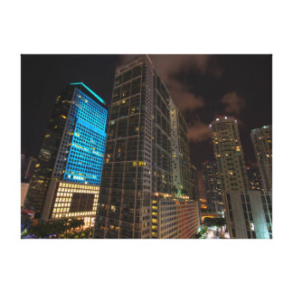 Brickell Ave Miami Florida Evening in the City. Canvas Print