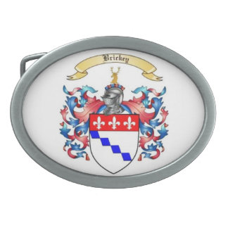 Brickey Family Crest Oval Belt Buckle