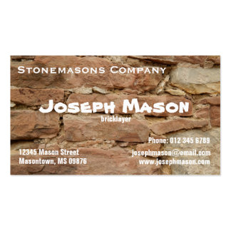 Bricklayer Double-Sided Standard Business Cards (Pack Of 100)