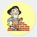 Bricklayer Round Sticker