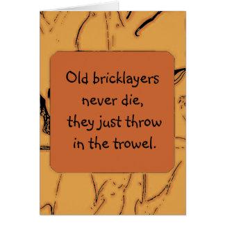 bricklayers humor card