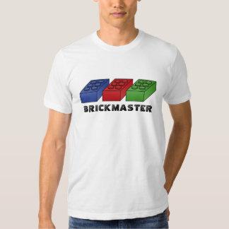 Brickmaster divertido - arte pop del vector polera