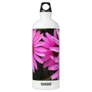 bricks and flowers aluminum water bottle
