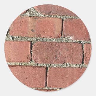 Bricks - Antique Street Pavers Round Sticker