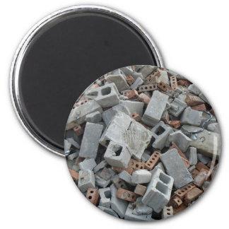 Bricks & Blocks Demolition Rubble Debris Magnet